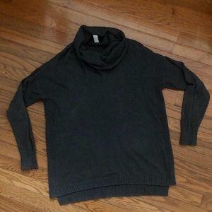 Cowl Neck Gray Maternity Sweater